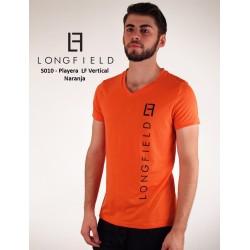 Playera LF vertical Naranja